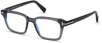 Tom Ford Men's Blue Block 54mm Square Acetate Optical Glasses
