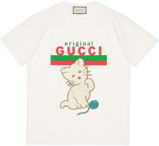 Gucci Kitten relaxed-fit T-shirt