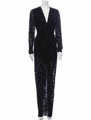 Veronica Beard Lace Pattern Long Dress w/ Tags Black