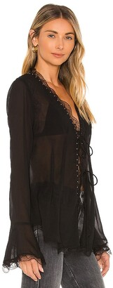 Free People Galaxy Studded Top