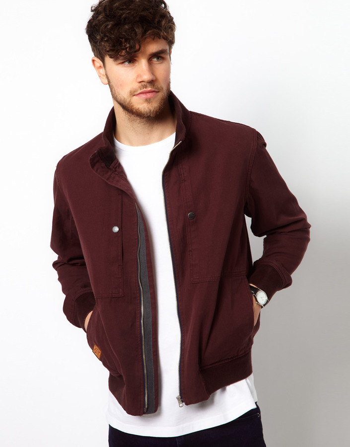 Paul Smith Bomber Jacket in Canvas Cotton