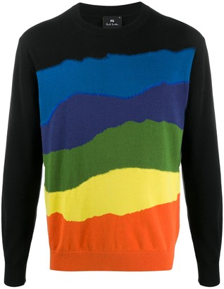 Paul Smith Panelled Crew-Neck Pullover