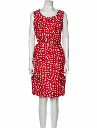 Oscar de la Renta 2015 Knee-Length Dress Red