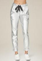 Bebe Silver Jogger Pants
