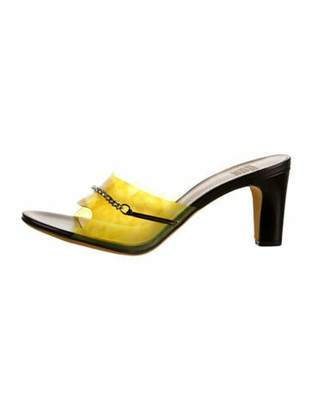 Maryam Nassir Zadeh Paloma Chain-Link Accents Slides w/ Tags Yellow