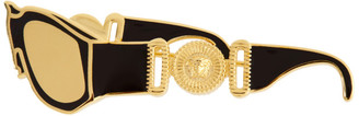 Versace Black and Gold Sunglasses Brooch