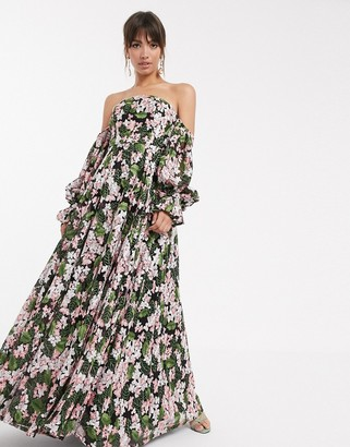 Asos EDITION off shoulder embroidered maxi dress
