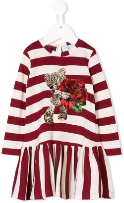 MonnaLisa Striped Midi Dress