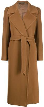 Tagliatore tie-waist long coat