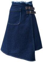 Miharayasuhiro asymmetric raw denim skirt