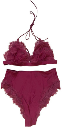 Osã©Ree OsAree Burgundy Lace Swimwear