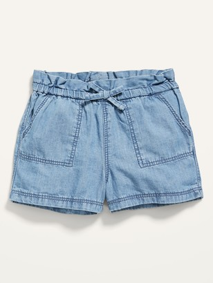 Old Navy Pull-On Chambray Utility Shorts for Baby