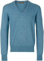 Loro Piana long sleeved V-neck sweatshirt