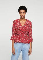 MANGO Ruffles floral blouse