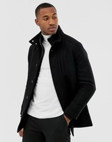 Jack & Jones Premium insert wool jacket in black