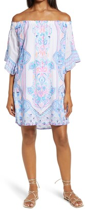 Lilly Pulitzer Fawna Off the Shoulder Dress