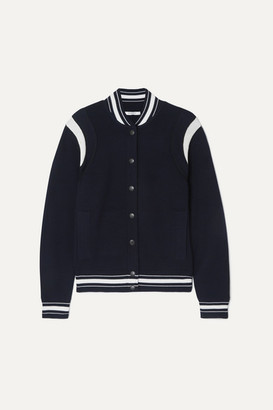Givenchy Appliqued Striped Wool-blend Bomber Jacket - Navy