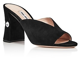 Miu Miu Women's Rocchetto Crystal Embellished Block Heel Sandals