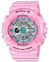 Casio Ladies' Baby-G Pink Resin Watch BA110CA-4A