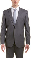 Kenneth Cole New York Slim Fit Wool Suit With Flat Front Pant