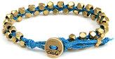 Ettika Double Gold Faceted Bracelet in Turquoise