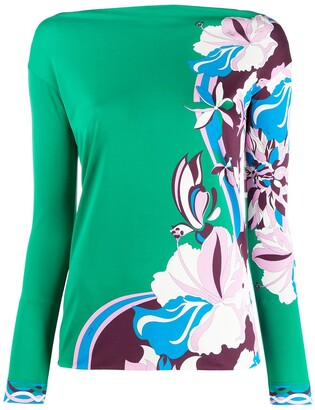 Emilio Pucci Abstract Floral Print Top