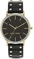 Nine West Ladies Hartsleigh Black Strap Watch