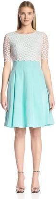 Bigio Women's Dress with Lace Overlay