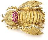 Ben-Amun Women's Love Bug Swarovski Crystal Gold Beetle Brooch