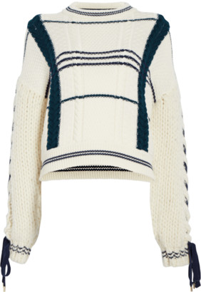 Carven Lace-Up Sweater