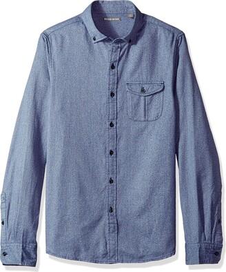 Michael Bastian Men's Long Sleeve Jaspe Heather Woven Shirt