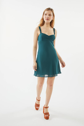 Urban Outfitters Johnson Ruffle Mini Slip Dress