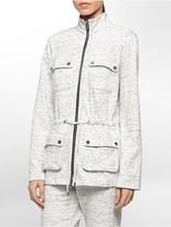 Calvin Klein Space Dye Zip Front Camp Jacket
