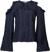 Derek Lam 10 Crosby cut-out ruffled shoulders blouse - women - Silk - 0