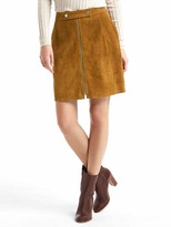 Gap Suede zip skirt