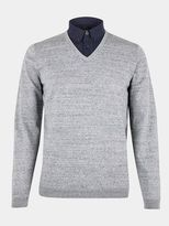 Burton Burton Grey Mock Shirt V-neck Jumper