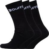 DuFFS Mens Three Pack Classic Socks Black