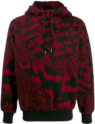 Paul Smith Abstract Print Fleece Hoodie