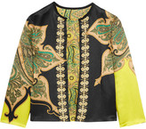 Etro Reversible Printed Crinkled-satin Jacket - Black