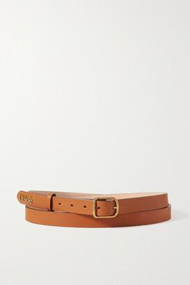 Chloé Embellished Leather Waist Belt - Brown