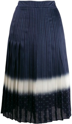 Tory Burch Printed Pleated Skirt