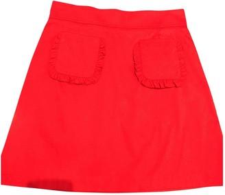 Tara Jarmon Red Cotton Skirt for Women