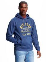 Old Navy Hooded Graphic Popover Fleece Sweatshirt