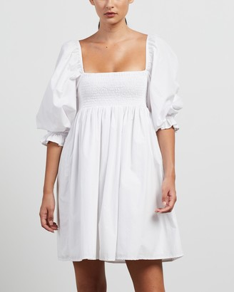 Faithfull The Brand Women's White Mini Dresses - Arles Mini Dress - Size S at The Iconic