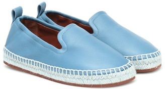 Loro Piana Kids Agata leather espadrilles