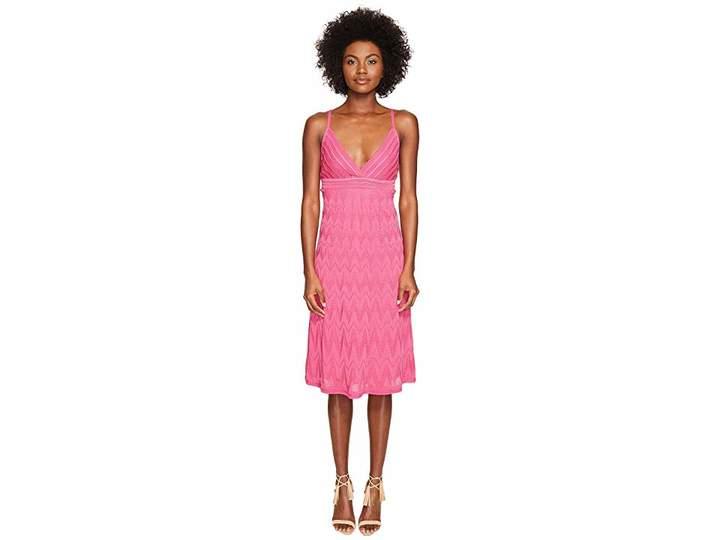 M Missoni Solid Knit Skinny Strap Dress Women's Dress