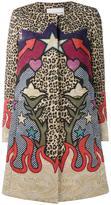 Mary Katrantzou leopard western print coat