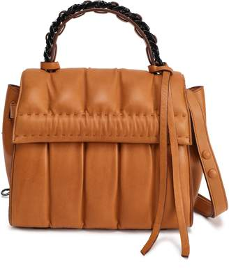Elena Ghisellini Quilted Leather Shoulder Bag