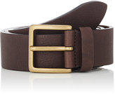 Barneys New York Men's Washed Leather Belt