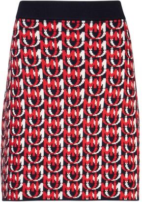 Miu Miu All Over Logo Skirt